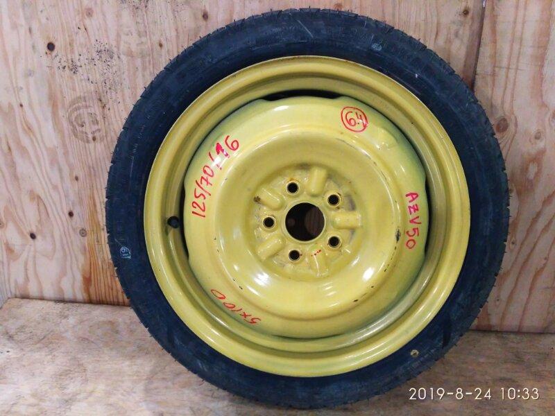Запасное колесо Toyota Vista Ardeo AZV50 1AZ-FSE 2002