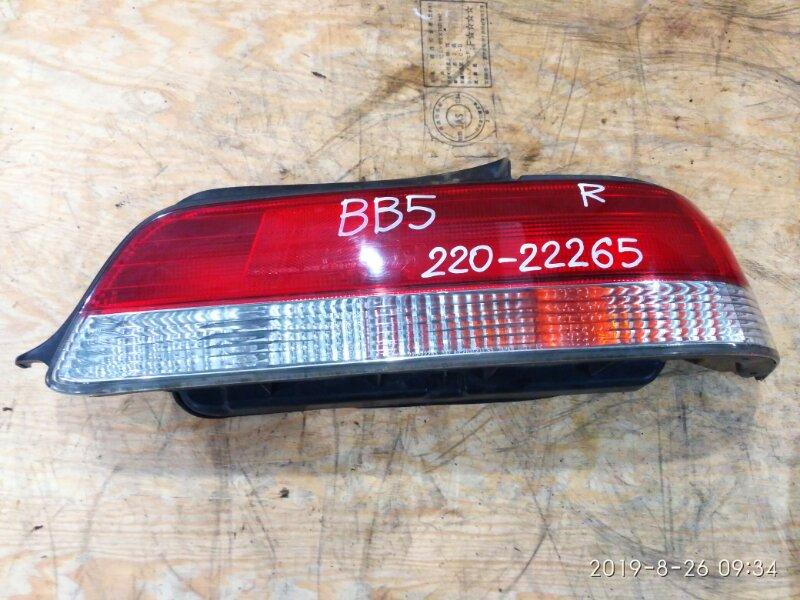 Фонарь стоп-сигнала Honda Prelude BB5 F22B 1998 правый
