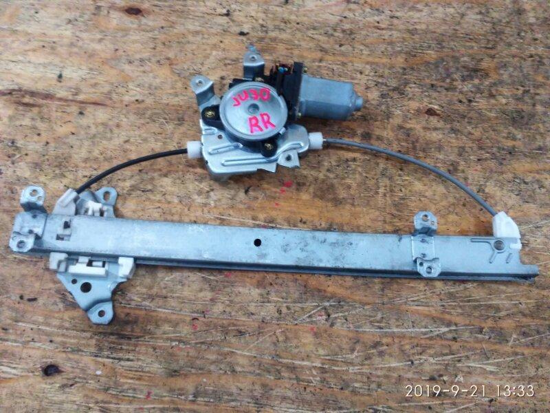 Стеклоподъемник Nissan Bassara JU30 KA24DE 1999 задний правый