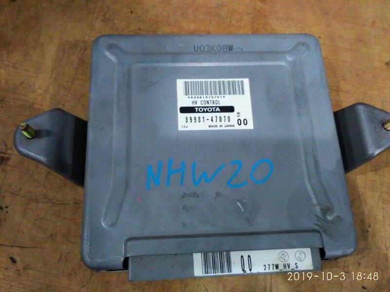 Блок управления двс Toyota Prius NHW20 1NZ-FXE 2003