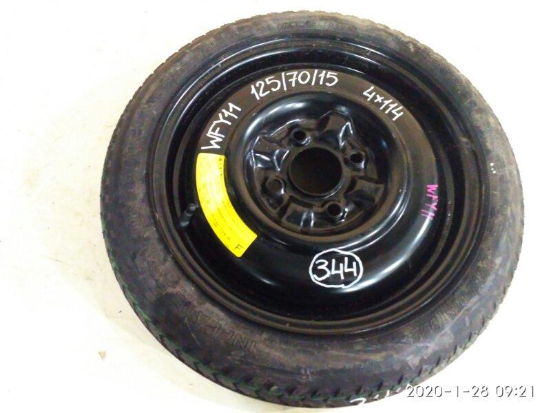 Запасное колесо Nissan Wingroad WFY11 QG15DE 2004