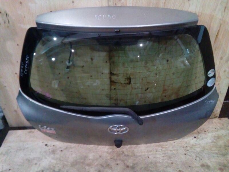 Дверь задняя багажника Toyota Vitz SCP90 2SZ-FE 2006