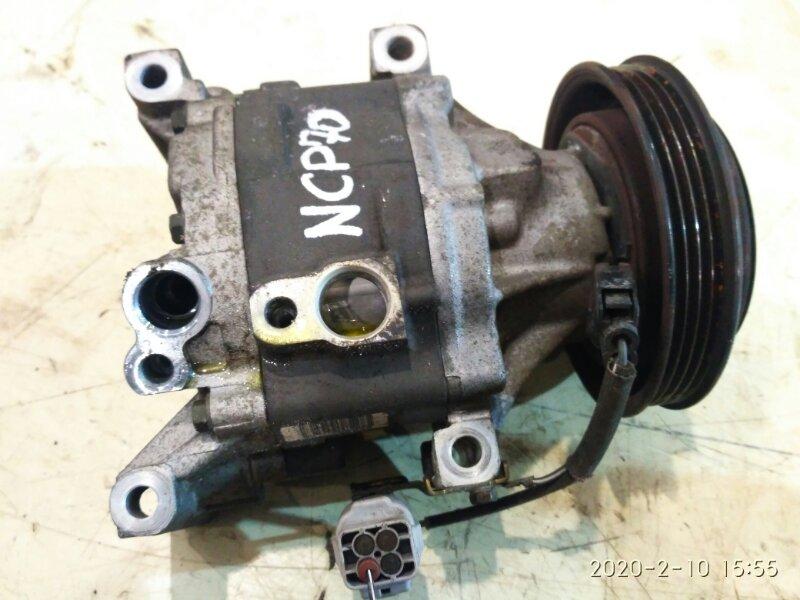 Компрессор кондиционера Toyota Will Cypha NCP70 2NZ-FE 2003