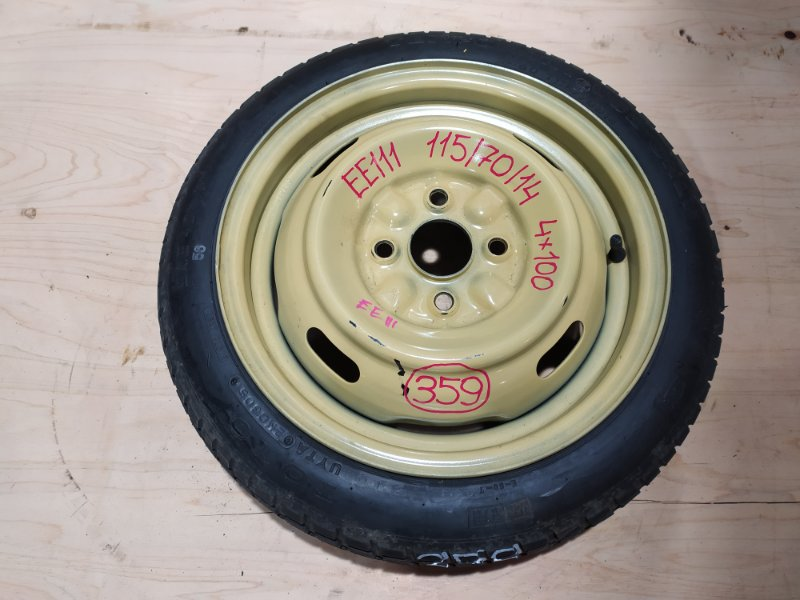 Запасное колесо Toyota Corolla EE111 4E-FE 1998