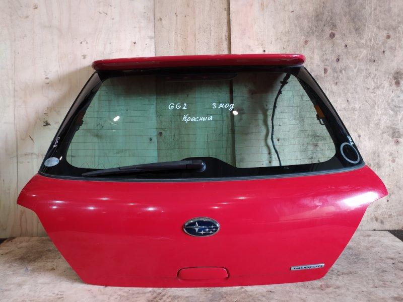 Дверь задняя багажника Subaru Impreza GG2 EJ15 2005