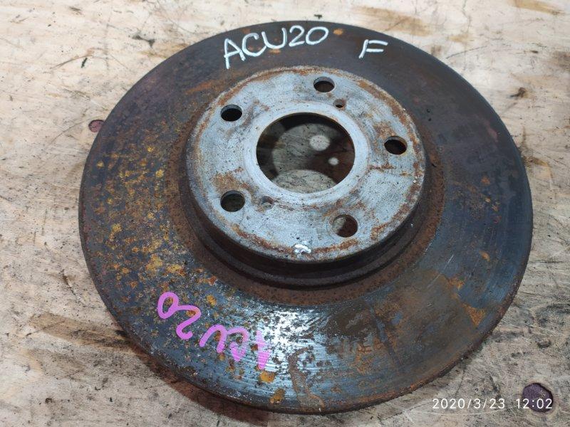 Диск тормозной Toyota Kluger ACU20W 2AZ-FE 2001 передний