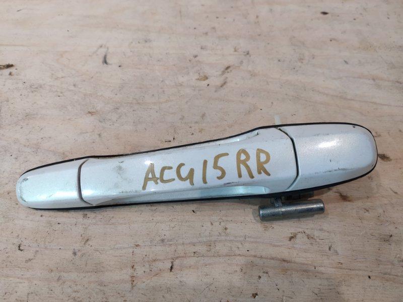 Ручка наружная Toyota Harrier ACU15W 2AZ-FE 2000 задняя правая