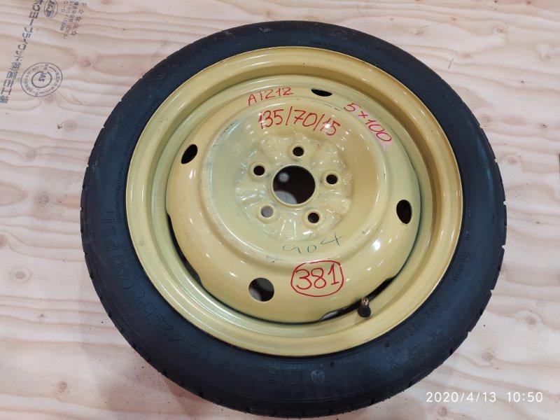 Запасное колесо Toyota Carina AT212 5A-FE 2001