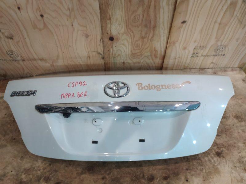 Крышка багажника Toyota Belta SCP92 2SZ-FE 2005