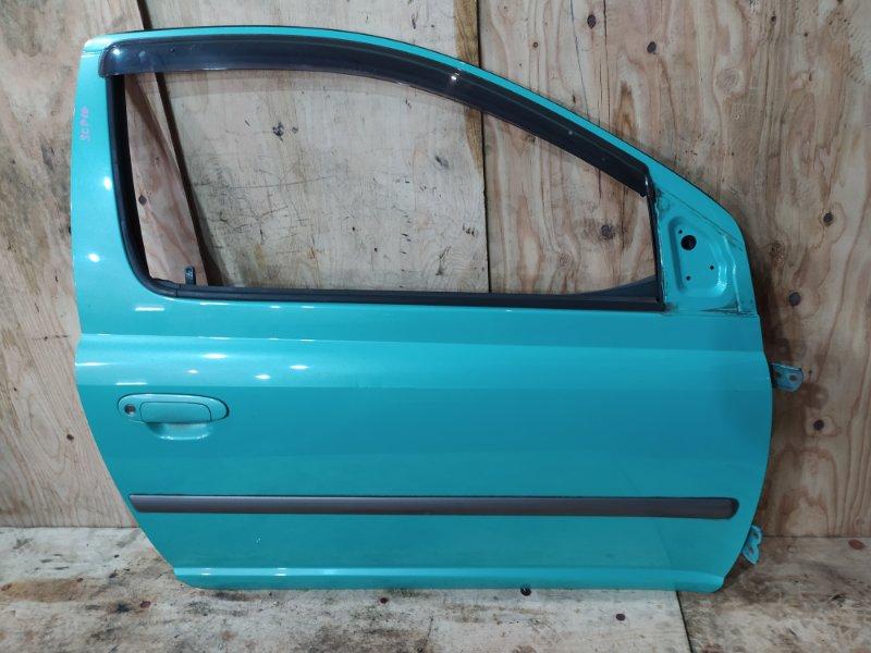 Дверь боковая Toyota Vitz SCP10 1SZ-FE 1999 передняя правая