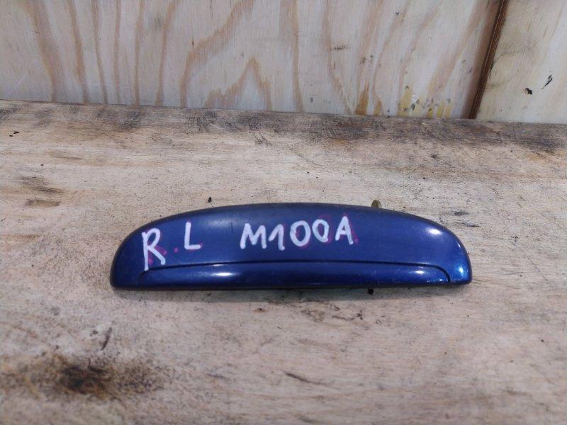 Ручка наружная Toyota Duet M100A EJ-VE 2002 задняя левая