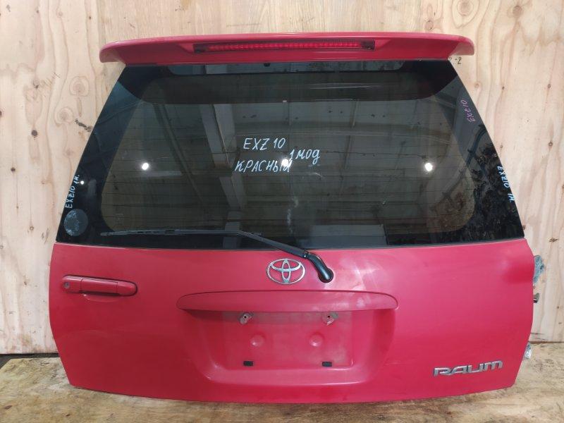 Дверь задняя багажника Toyota Raum EXZ10 `5E-FE 1999