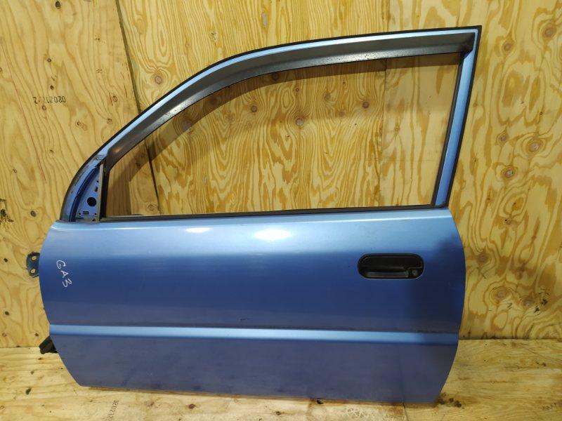 Дверь боковая Honda Logo GA3 D13B 1997 передняя левая