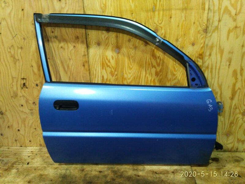 Дверь боковая Honda Logo GA3 D13B 1997 передняя правая