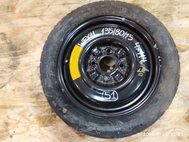 Запасное колесо Nissan Wingroad WFY11 QG15DE 2002