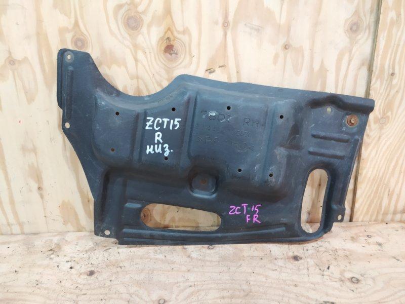 Защита двс Toyota Opa ZCT15 1ZZ-FE 2001 правая