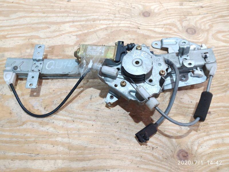 Стеклоподъемник Nissan Bluebird QU14 QG18DE 2000 задний правый