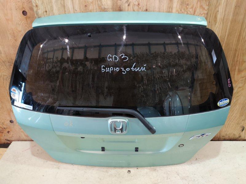 Дверь задняя багажника Honda Fit GD3 L15A 2003