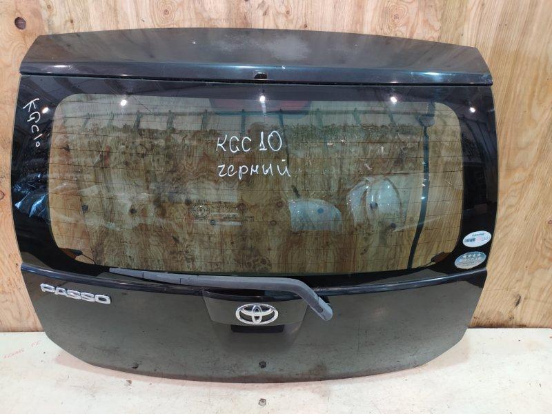Дверь задняя багажника Toyota Passo KGC10 1KR-FE 2005