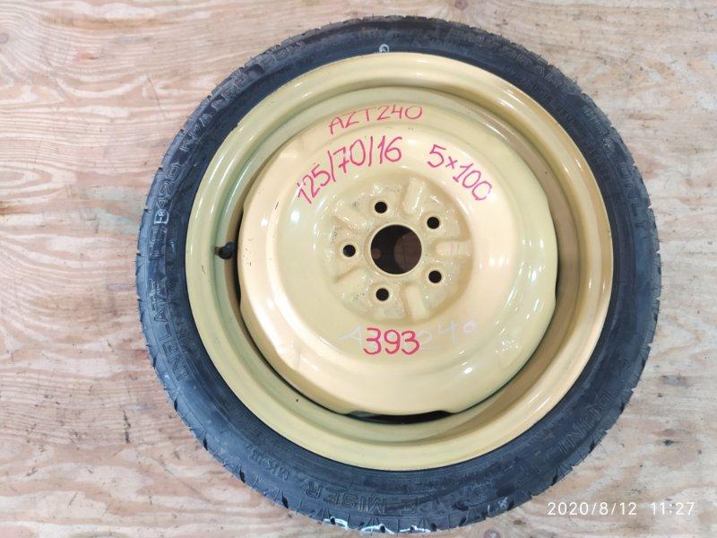 Запасное колесо Toyota Premio AZT240 1AZ-FSE 2005
