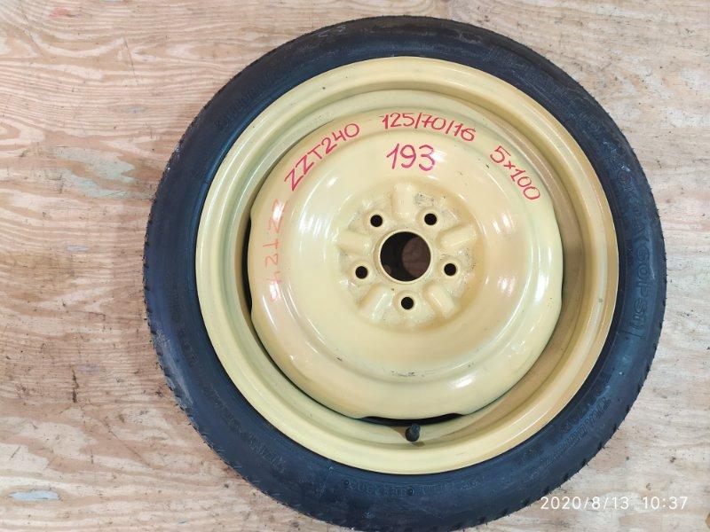 Запасное колесо Toyota Allion ZZT240 1ZZ-FE 2003
