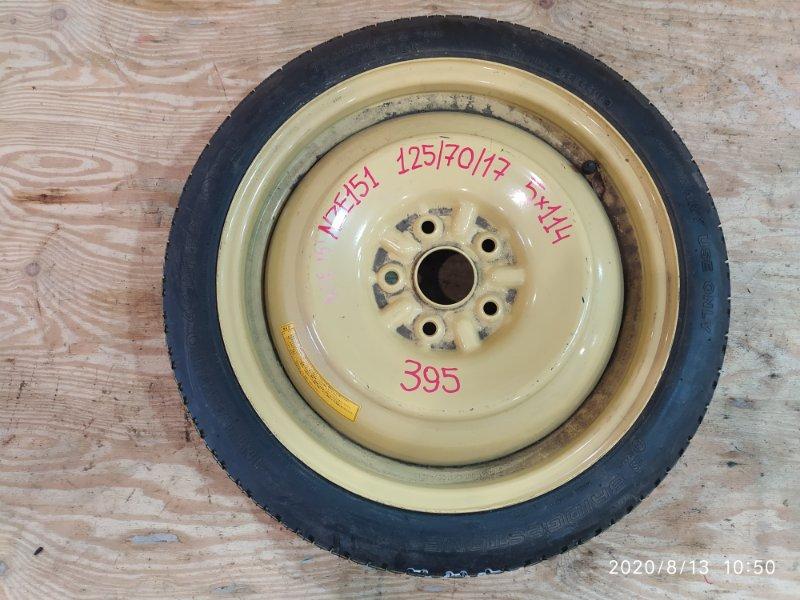 Запасное колесо Toyota Auris NZE151H 1NZ-FE 2006