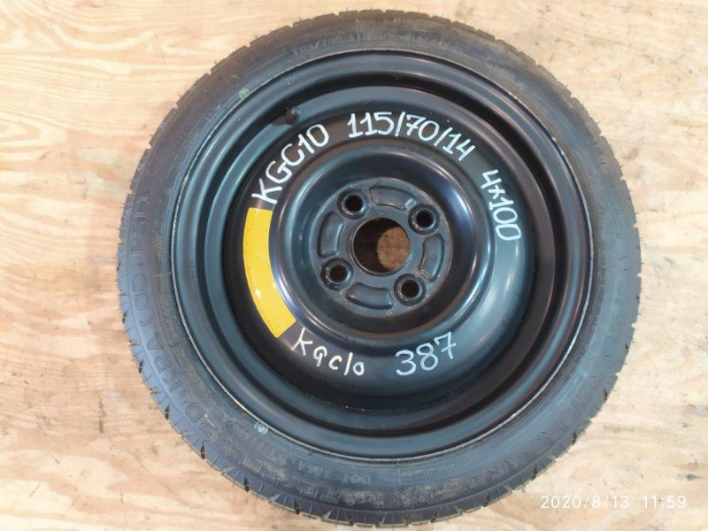 Запасное колесо Toyota Passo KGC10 1KR-FE 2005