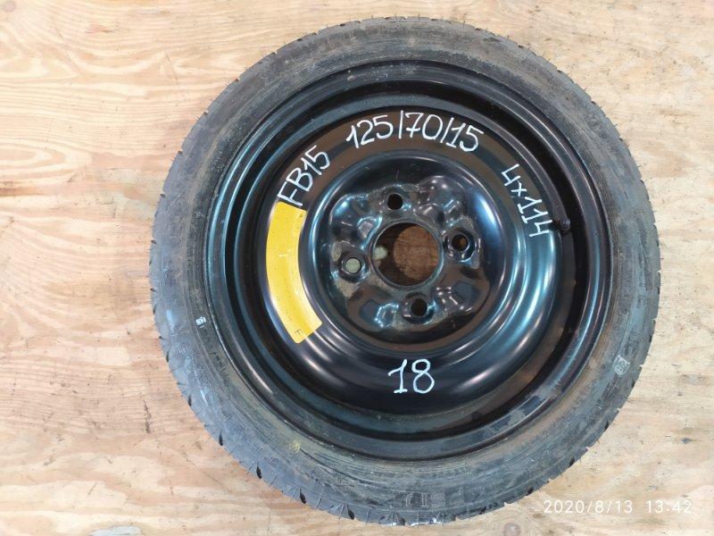 Запасное колесо Nissan Sunny FB15 QG15DE 2001