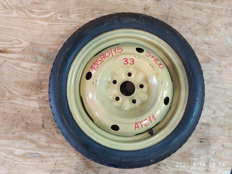 Запасное колесо Toyota Caldina AT211G 7A-FE 1998