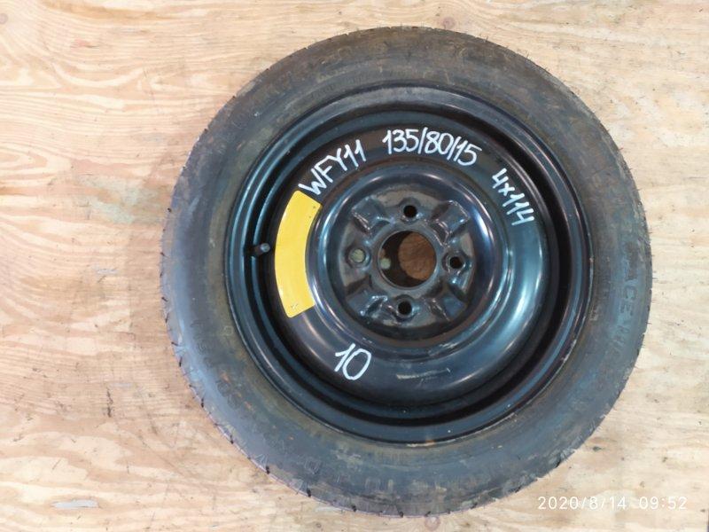 Запасное колесо Nissan Wingroad WFY11 QG15DE 2001