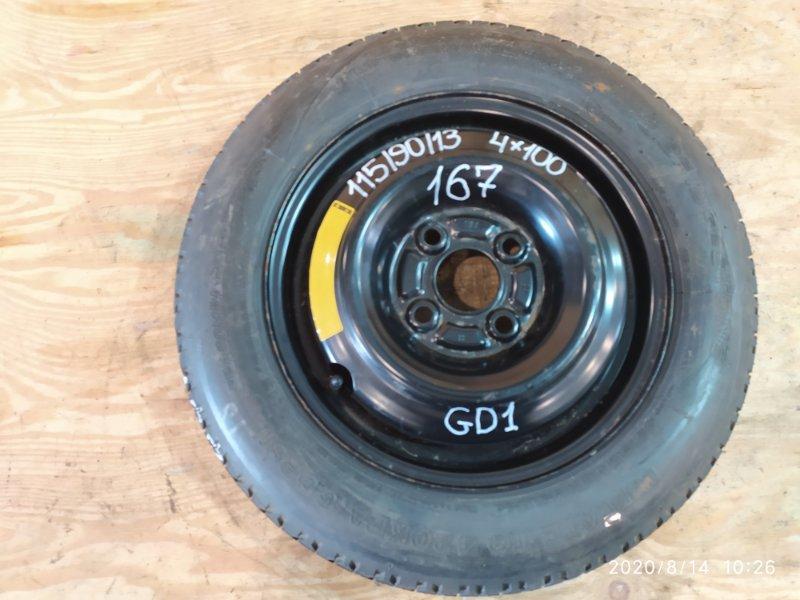 Запасное колесо Honda Fit GD1 L13A 2002