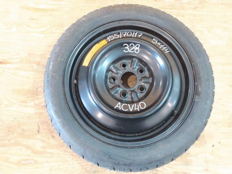 Запасное колесо Toyota Camry ACV40 2AZ-FE 2007