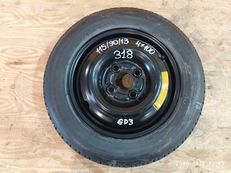 Запасное колесо Honda Fit GD3 L15A 2003