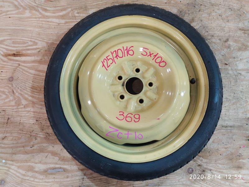 Запасное колесо Toyota Opa ZCT10 1ZZ-FE 2001