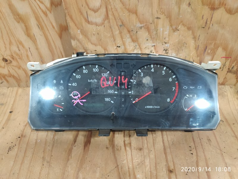 Комбинация приборов Nissan Bluebird QU14 QG18DE 2000