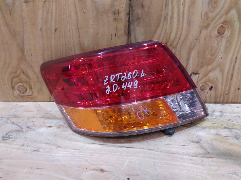 Фонарь стоп-сигнала Toyota Allion ZRT260 2ZR-FE 2007 левый