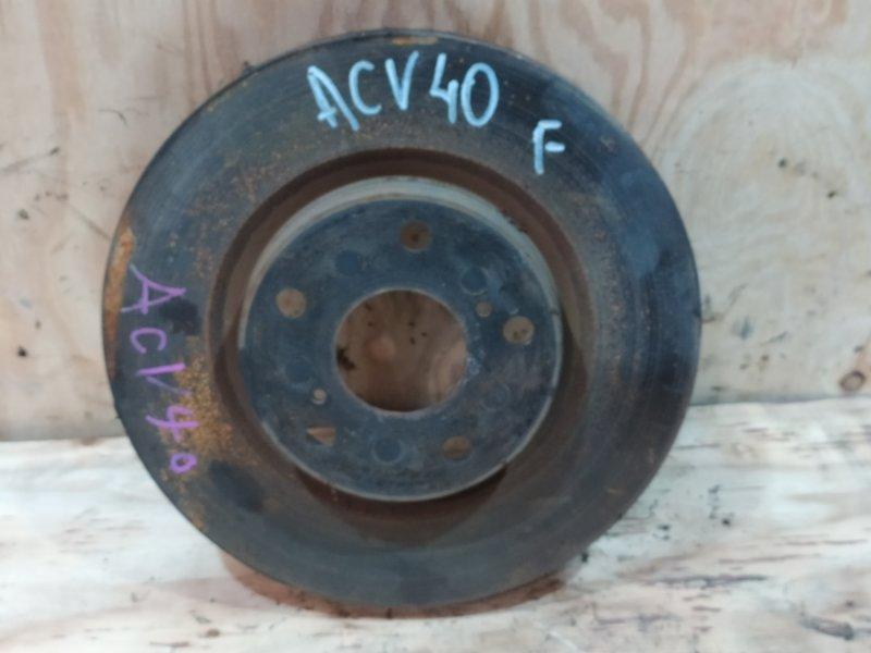 Диск тормозной Toyota Camry ACV40 2AZ-FE 2007 передний