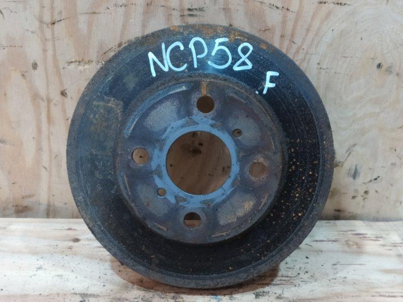 Диск тормозной Toyota Probox NCP58G 1NZ-FE 2003 передний