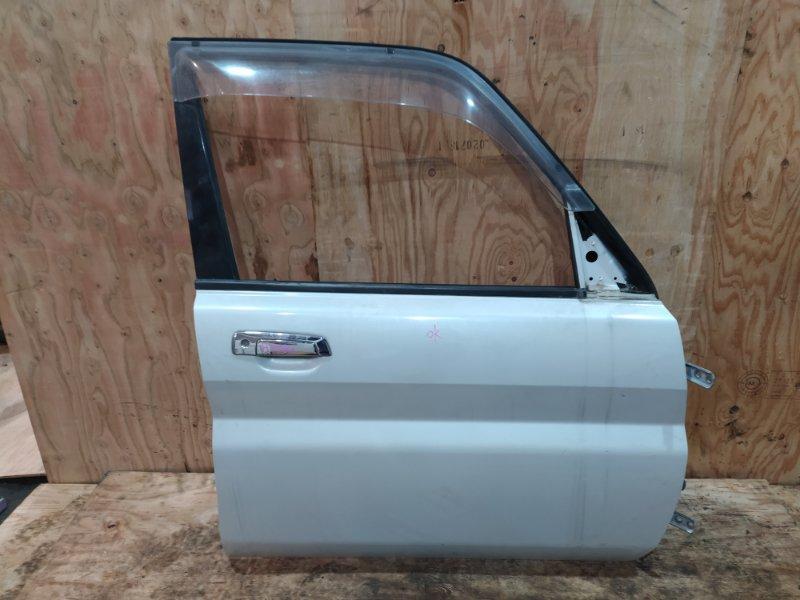 Дверь боковая Mitsubishi Pajero Io H77W 4G94 2001 передняя правая