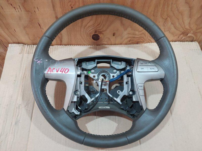 Руль Toyota Camry ACV40 2AZ-FE 2007