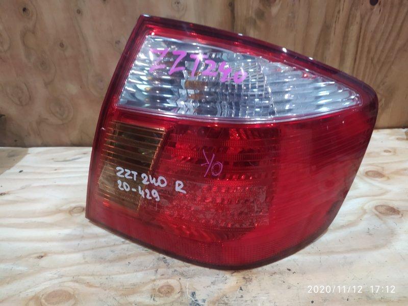 Фонарь стоп-сигнала Toyota Premio ZZT240 1ZZ-FE 2002 правый