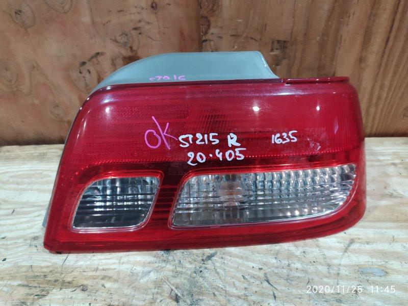 Фонарь стоп-сигнала Toyota Carina ST215G 3S-FE 2000 правый