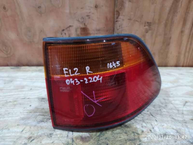 Фонарь стоп-сигнала Honda Orthia EL2 B20B 1996 правый