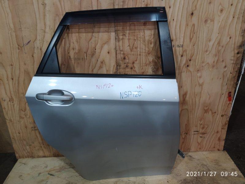 Дверь боковая Toyota Ractis NSP120 1NR-FE 2012 задняя правая