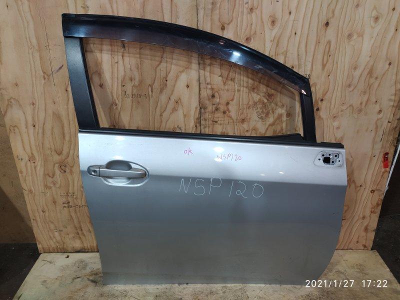 Дверь боковая Toyota Ractis NSP120 1NR-FE 2012 передняя правая