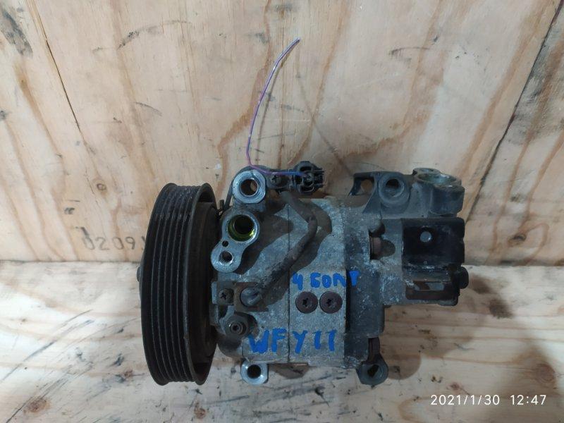 Компрессор кондиционера Nissan Wingroad WFY11 QG15DE 2000