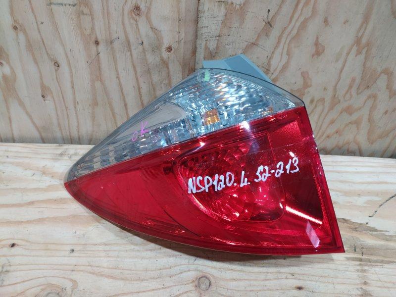 Фонарь стоп-сигнала Toyota Ractis NSP120 1NR-FE 2012 левый