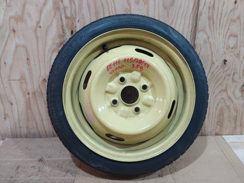 Запасное колесо Toyota Corolla EE111 4E-FE 1995
