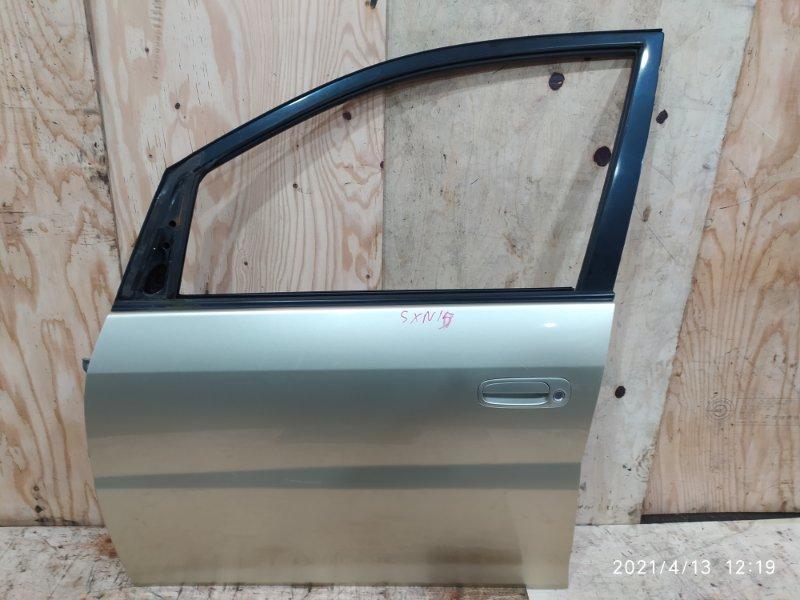 Дверь боковая Toyota Nadia SXN15 3S-FE 2001 передняя левая