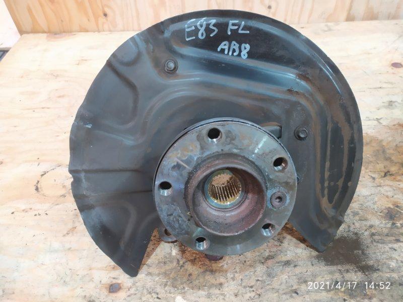 Ступица Bmw X3 E83 N52B30 2007 передняя левая
